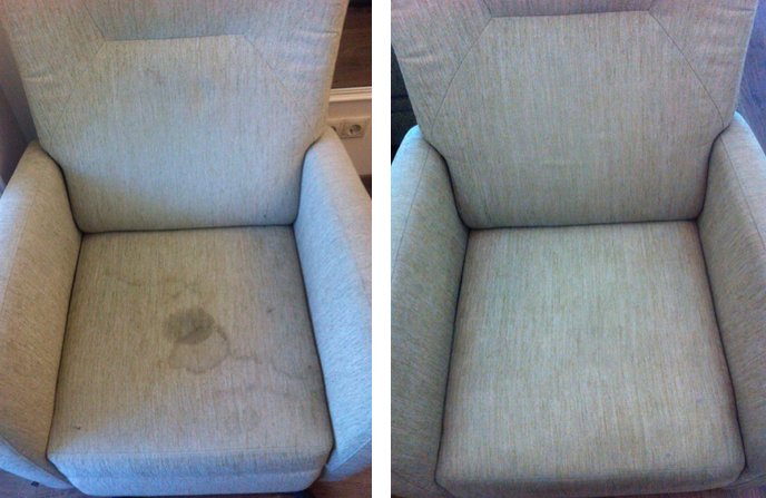 Химчистка кресла в квартире пенсионера.