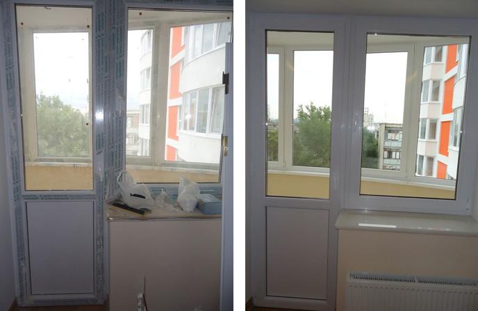 Мытье балкона и балконного блока на кухне.