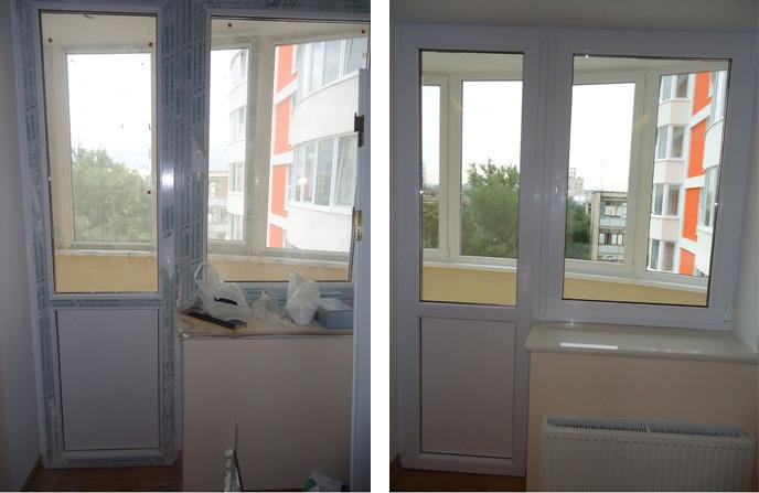 Мытье окон и балконного блока на кухне.