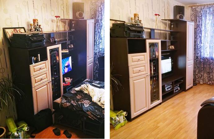 Поддерживающая уборка в 1-комнатной квартире.