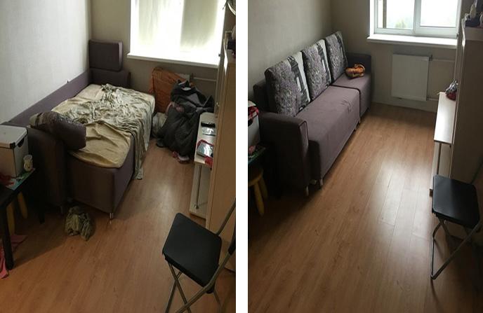 Поддерживающая уборка в 2-комнатной квартире.