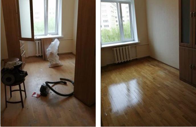 Уборка и дезинфекция комнаты после смерти человека.