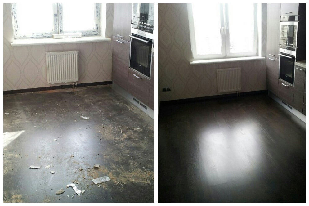Уборка 1-комнатной квартиры после ремонта.