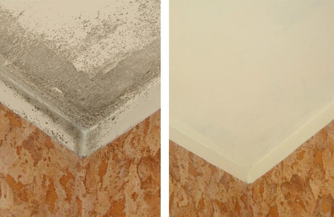 Удаление грибка с потолка жилой комнаты.